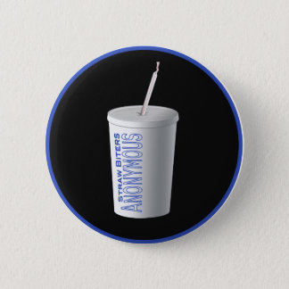 Straw Biters Anonymous 2 Inch Round Button