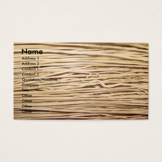 Straw business card