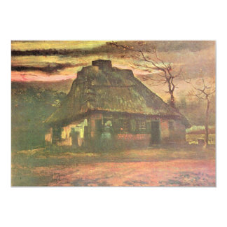 Straw hut at dusk by Vincent van Gogh Card