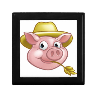 Straw Pig Cartoon Character Gift Box