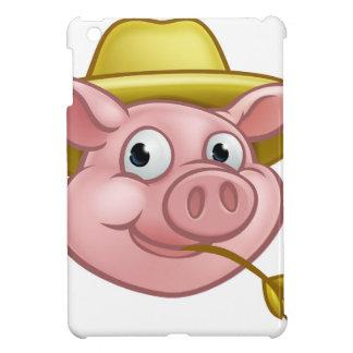Straw Pig Cartoon Character iPad Mini Cover
