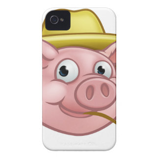 Straw Pig Cartoon Character iPhone 4 Case