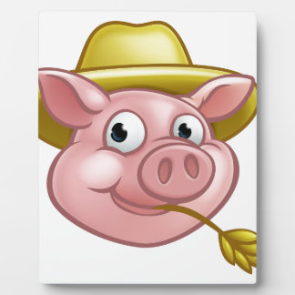 Straw Pig Cartoon Character Plaque
