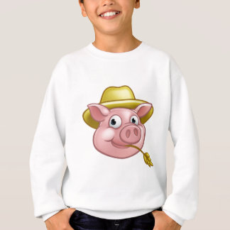 Straw Pig Cartoon Character Sweatshirt