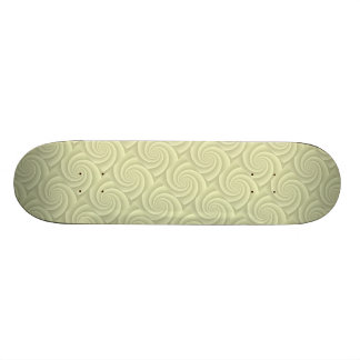 Straw Spiral in brushed metal texture Skate Board