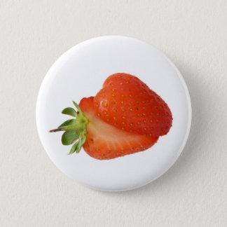 Strawberries 2 Inch Round Button
