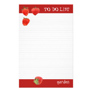 Strawberries 4our To Do List Stationery