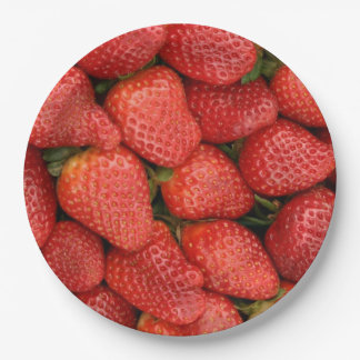 STRAWBERRIES 9 INCH PAPER PLATE