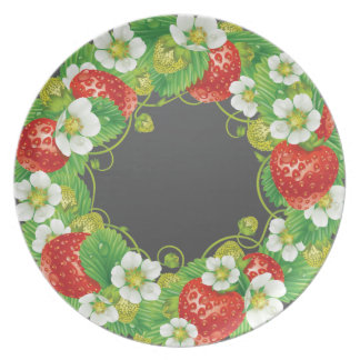 Strawberries Again Party Plate