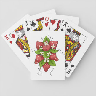Strawberries and Blossoms Playing Cards