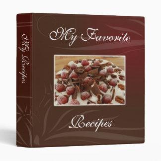 Strawberries and Chocolate Recipe Book 3 Ring Binder