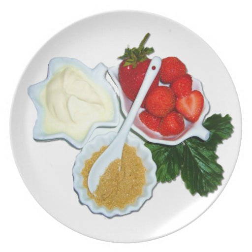 Strawberries and Cream  Decorative Plate