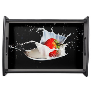 Strawberries and Cream Serving Tray