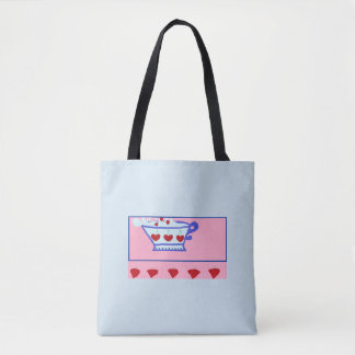 Strawberries and cream shopping bag