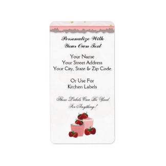 Strawberries And Cupcakes Art Label