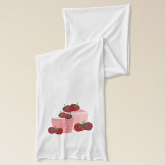 Strawberries And Cupcakes Art Scarves