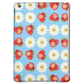 Strawberries and daisies iPad air cover