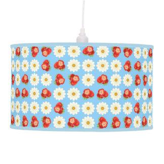 Strawberries and daisies pendant lamp