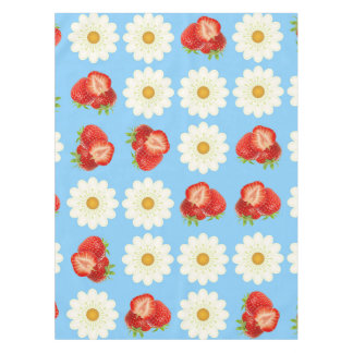 Strawberries and daisies tablecloth