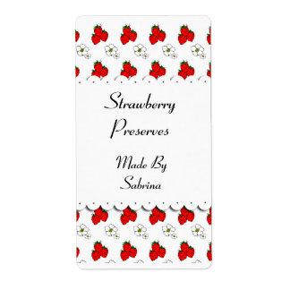 Strawberries and Flowers Custom Label