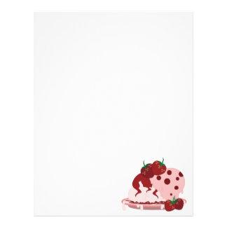 Strawberries And Ice Cream Art Letterhead Design