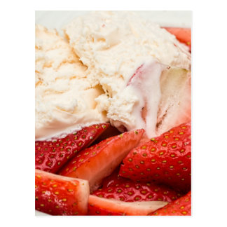 Strawberries and Ice cream Postcard