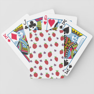 Strawberries and Lady Bugs Fruity Pattern Bicycle Playing Cards