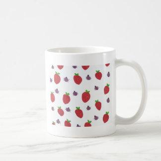 Strawberries and Lady Bugs Fruity Pattern Coffee Mug