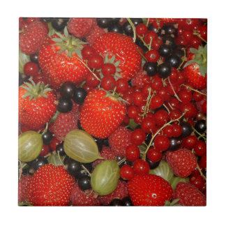 Strawberries, and summer fruits tile