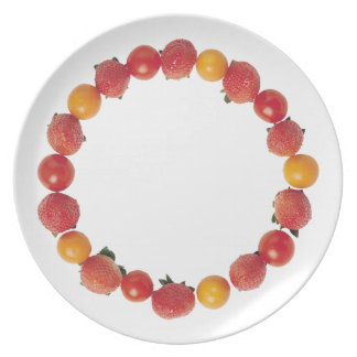 Strawberries and Tomatoes Plate
