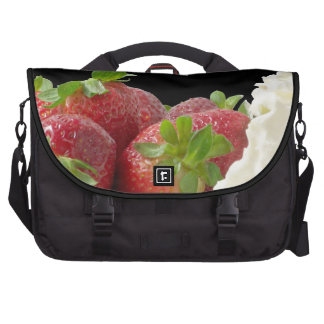Strawberries and Whipped Cream Laptop Bag