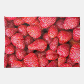 Strawberries background kitchen towel