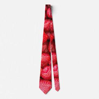Strawberries background tie