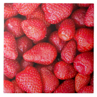 Strawberries background tile