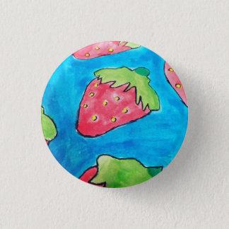 Strawberries - Badge 1 Inch Round Button