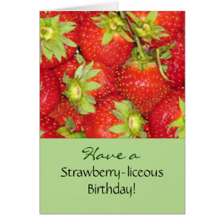 Strawberries Birthday Greeting Card