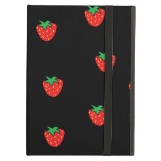 Strawberries Black iPad Air Cover