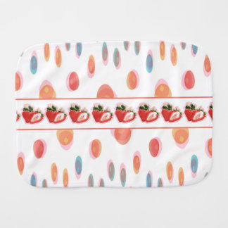 Strawberries Burp Cloth