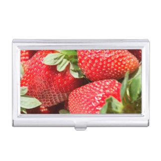 Strawberries Business Card Holder