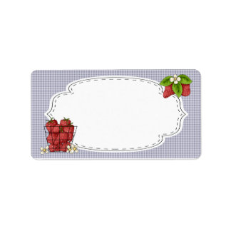 Strawberries Canning Label