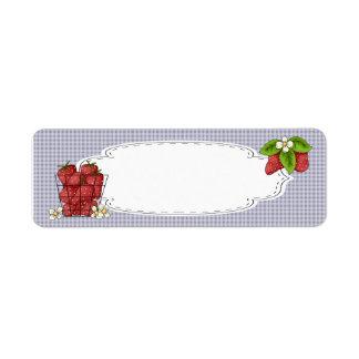 Strawberries Canning Label Return Address Label