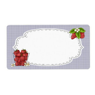 Strawberries Canning Label Shipping Label