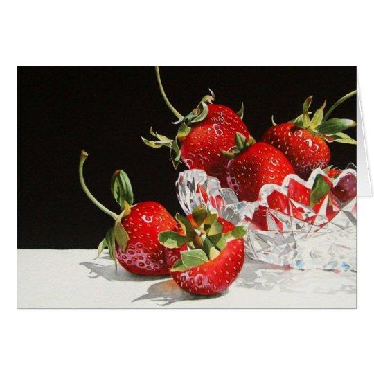 Strawberries & Crystal Greeting Card