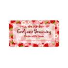 Strawberries Custom Canning / Jar Labels