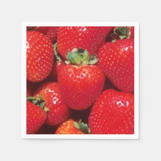 Strawberries Disposable Napkins