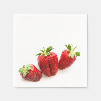 Strawberries Disposable Napkins