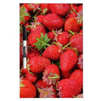 Strawberries Dry Erase White Board