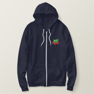 Strawberries Embroidered Hoodie