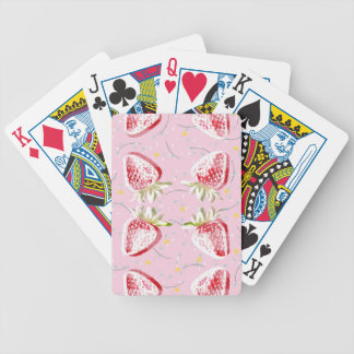 Strawberries Fiesta Pattern Bicycle Playing Cards