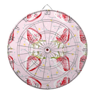 Strawberries Fiesta Pattern Dartboard